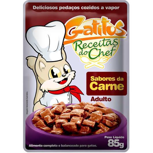 Alimento para Gatos Gatitus Adulto Carne 85g - Imagem em destaque