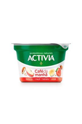 Leite Fermentado Activia Café da manha Morango Maçã/ Banana e Cereais 170g