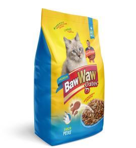 Alimento para gatos Baw Waw Premium Adultos Peixe 1kg