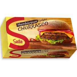 Hambúrguer Sadia bovino temperado churrasco 672g