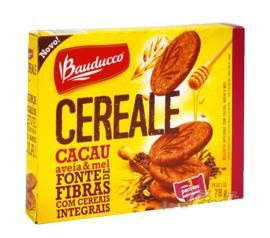 Biscoito Bauducco Cereale Cacau Aveia e Mel Integral 78g