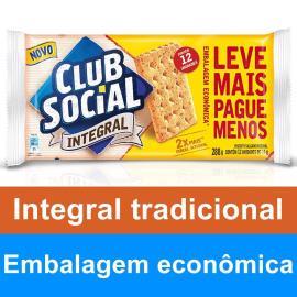 Biscoito CLUB SOCIAL Integral Tradicional Embalagem Econômica 288g
