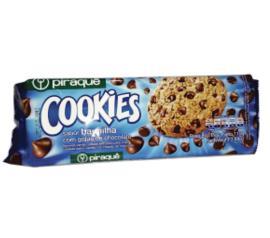 Cookie Piraquê Cookies Baunilha com Gotas de Chocolate 110g