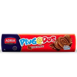 Biscoito Adria Plugados Recheado Chocolate 140g