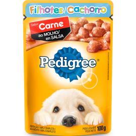 Alimento para Cães Pedigree Filhote Carne ao Molho Sachê 100g
