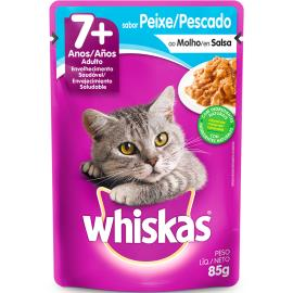 Alimento para Gatos Whiskas Peixe Sachê 7 Anos 85g