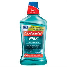 Enxaguante Bucal Colgate Plax Ice Infinity 500ml Promo Pague 350ml