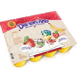Queijo Petit Suisse Danoninho Morango e Banana  480g