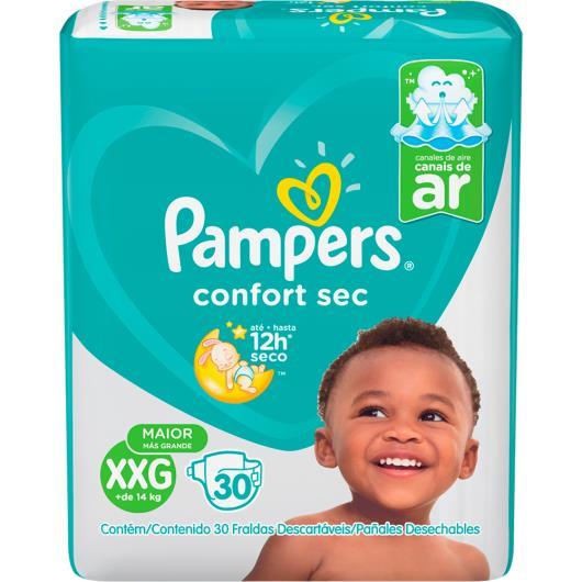 Fralda Descartável Pampers Confort Sec XXG 30 unidades - Imagem em destaque