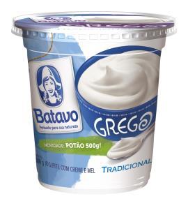 Iogurte Batavo Grego Tradicional Creme e Mel 500g