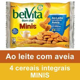 Biscoito Belvita Leite com Grãos de Aveia Mini 42g
