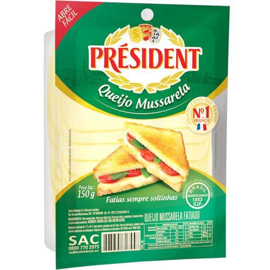 Queijo President Mussarela Fatiado Embalado 150g - Imagem em destaque
