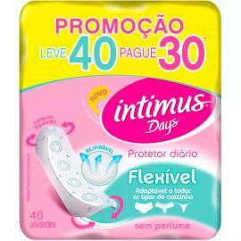 Protetor Diário Intimus Days Flexível Leve 40 Pague 30