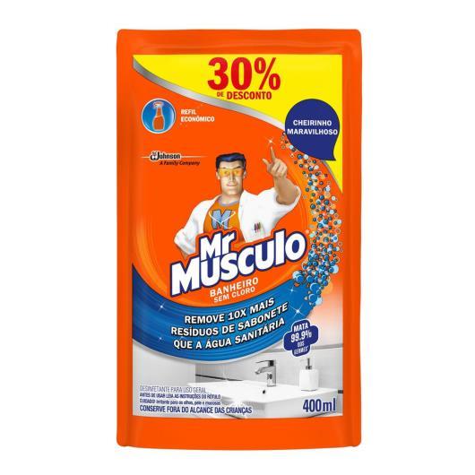 Desinfetante Mr. Músculo Banheiro Total 400ml Refil 30% de Desconto - Imagem em destaque
