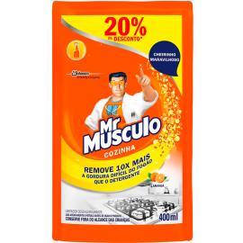 Desengordurante Mr.Musculo cozinha sachê 400ml com 20% de desconto