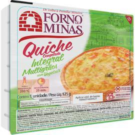 Quiche Forno Minas Integral Multigrãos 125g