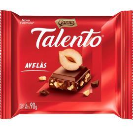 Chocolate GAROTO TALENTO ao Leite com Avelãs 90g