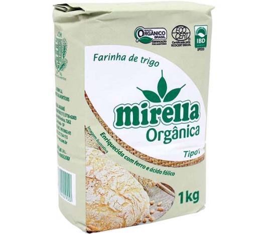 Farinha de Trigo Mirella Tipo 1 Orgânica 1kg - Imagem em destaque
