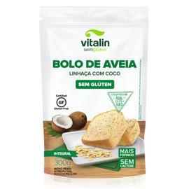 Bolo de Aveia de Linhaça com Coco Integral Vitalin 300g