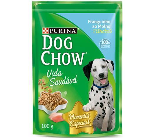 Alimento para Cães Dog Chow Filhote Frango ao Molho 100g - Imagem em destaque