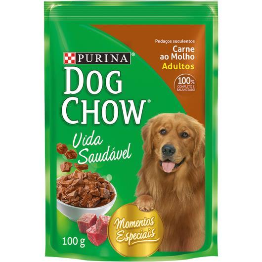 Alimento para Cães Dog Chow Adultos Carne ao Molho 100g - Imagem em destaque