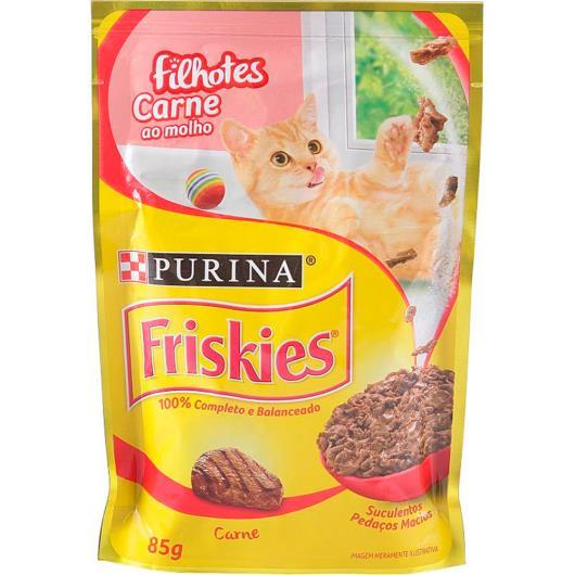 Alimento para Gatos Friskies Filhotes Carne Molho 85g - Imagem em destaque