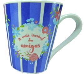 Caneca de Porcelana  clássica Amiga 290ml