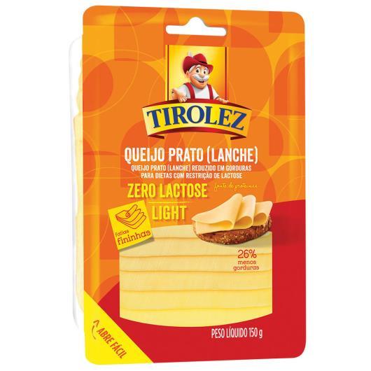 Queijo Prato Fatiado Light zero Lactose Tirolez 150g - Imagem em destaque