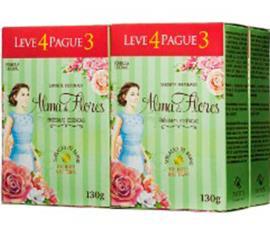 Sabonete Alma de Flores Clássico Leve 4 Pague 3
