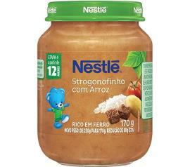 Sopinha infantil strogonofinho com arros Nestlé 170g