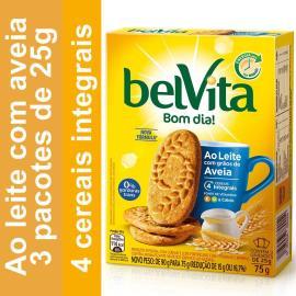Biscoito BELVITA ao Leite com Aveia (3 unidades) 75g