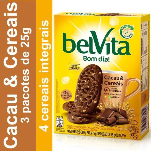 Biscoito BELVITA Cacau e Cereais (3 Unidades) 75g - Imagem em destaque