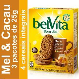 Biscoito BELVITA Mel e Cacau (3 Unidades) 75g