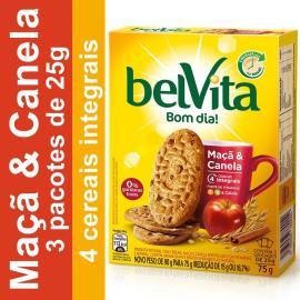 Biscoito BELVITA Maça e Canela (3 unidades) 75g