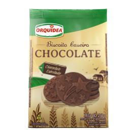 Biscoito Orquídea Caseiro Chocolate 250g