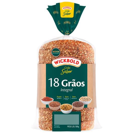 Pão integral 18 grãos Grão sabor Wickbold 500g - Imagem em destaque