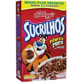 Cereal matinal power pops Sucrilhos Kellogg's 660g