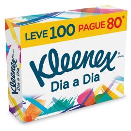 Lenço papel Suave sem perfume Kleenex Leve 100 Pague 80 unidades