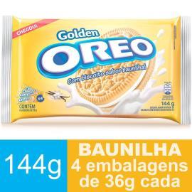 Biscoito OREO Golden Baunilha (4 Unidades) 144g