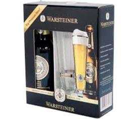 2 Cervejas + tulipa Warsteiner kit 660ml