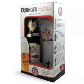 Cerveja + copo Weibbier Erdinger kit 500ml