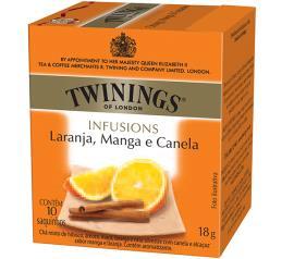 Chá laranja manga e canela Twinings 18g