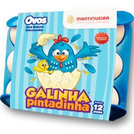 Ovos Brancos Mantiqueira Galinha Pintadinha com 12 unidades
