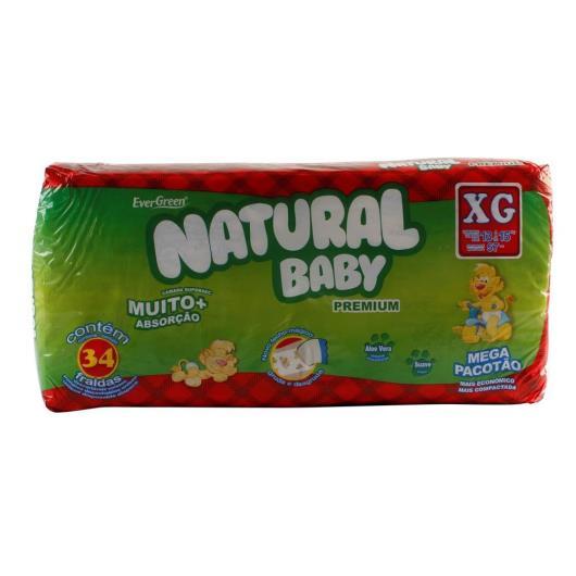 Fraldas Natural Baby Premium XG - 34 Unidades - Imagem em destaque