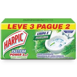 Pastilha Harpic 2 em 1 Pinho Leve 3 Pague 2