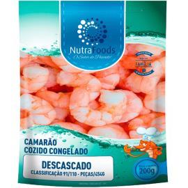 Camarão Nutra Foods Descascado Cozido Classificação 91/110 200g