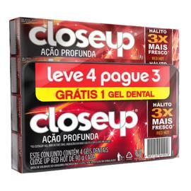 Gel Dental Closeup Red Hot Leve 4 Pague 3 360g