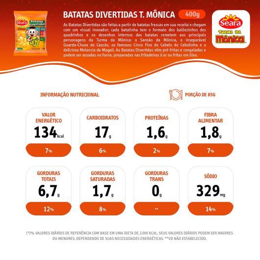 Batatas divertidas Seara Turma da Mônica 400g - Imagem em destaque