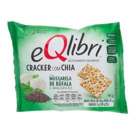 Biscoito Eqlibri Cracker Mussarela de Búfala e Manjericão 45g