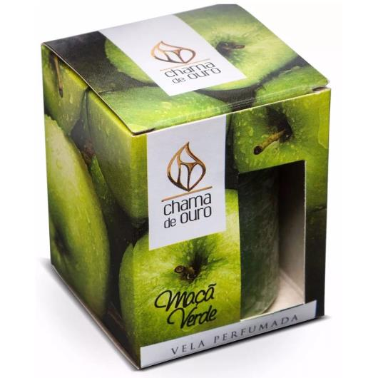 Vela Chama de Ouro perfumada maçã verde 60g - Imagem em destaque